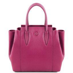 Tulipan Leather handbag Fuchsia TL141727