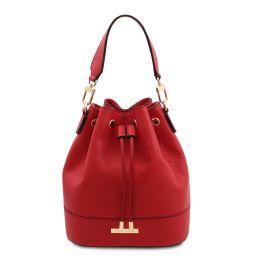 TL Bag Leather bucket bag Lipstick Red TL142083