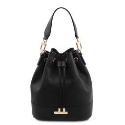 TL Bag Borsa secchiello da donna in pelle Nero TL142083