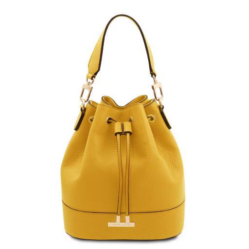 TL Bag Bolso cubo secchiello en piel Amarillo TL142083