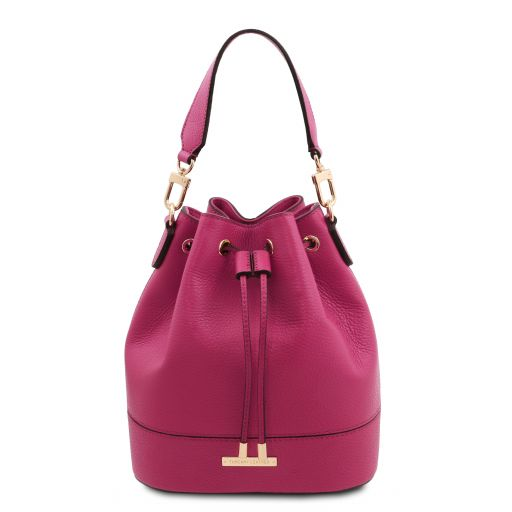 TL Bag Leather bucket bag Fuchsia TL142083