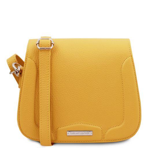 Jasmine Leather shoulder bag Yellow TL141968