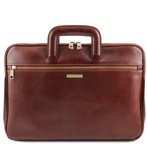 Caserta Document Leather briefcase Brown TL142070