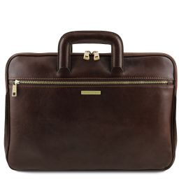 Caserta Document Leather briefcase Темно-коричневый TL142070
