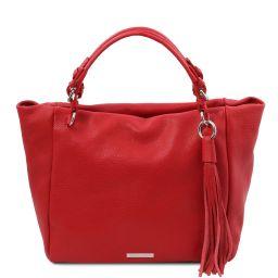 TL Bag Borsa shopping in pelle morbida Rosso Lipstick TL142048