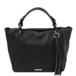 TL Bag Borsa shopping in pelle morbida Nero TL142048