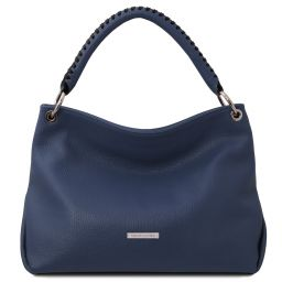 TL Bag Borsa a mano in pelle morbida Blu scuro TL142087