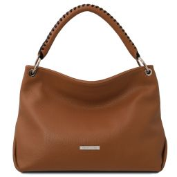 TL Bag Borsa a mano in pelle morbida Cognac TL142087