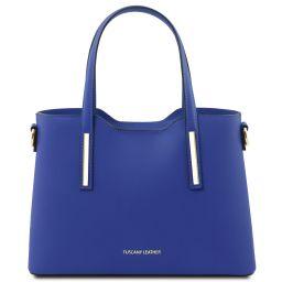 Olimpia Sac cabas en cuir - Petit modèle Bleu TL141521