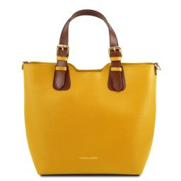 TL Bag Saffiano leather tote Yellow TL141696