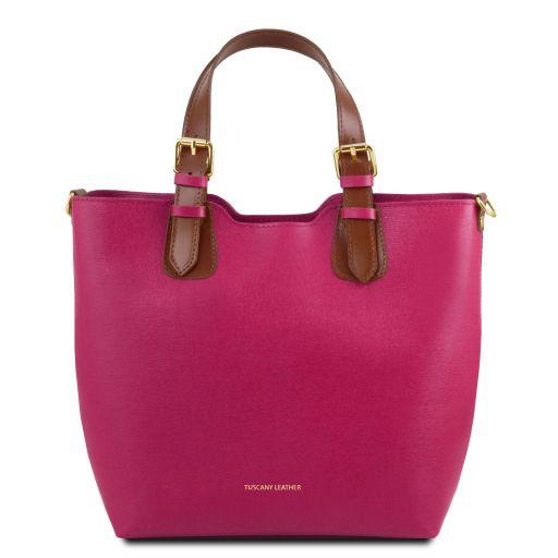 TL Bag Shopping Tasche aus Saffiano Leder Fucsia TL141696