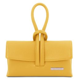 TL Bag Leather clutch Yellow TL141990