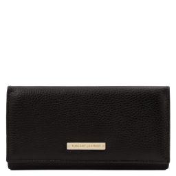 Nefti Esclusivo portafoglio donna in pelle morbida Nero TL142053