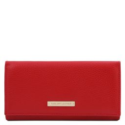 Nefti Exclusive soft leather wallet for women Lipstick Red TL142053