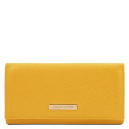 Nefti Exclusive soft leather wallet for women Желтый TL142053