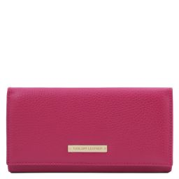 Nefti Exclusive soft leather wallet for women Фуксия TL142053