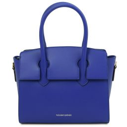 Brigid Leather handbag Blue TL141943