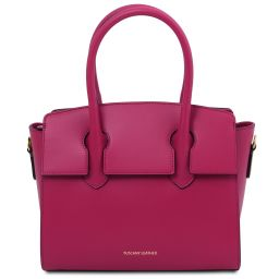 Brigid Leather handbag Fuchsia TL141943