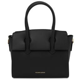 Brigid Handtasche aus Leder Schwarz TL141943