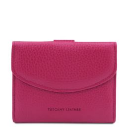 Calliope Exclusive 3 fold leather wallet for women with coin pocket Фуксия TL142058