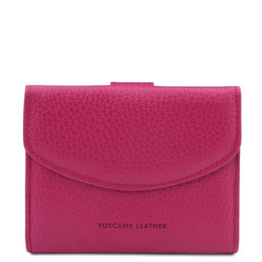 Calliope Esclusivo portafoglio donna in pelle 3 ante con portaspiccioli Fucsia TL142058