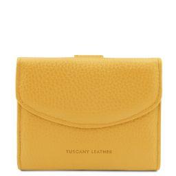 Calliope Esclusivo portafoglio donna in pelle 3 ante con portaspiccioli Giallo TL142058