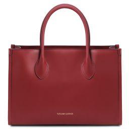 Letizia Borsa shopping in pelle Rosso TL142040