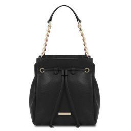 TL Bag Bolso cubo secchiello en piel suave Negro TL142134