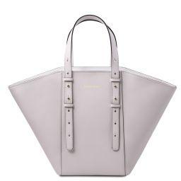 TL Bag Shopper Tasche aus Leder Weiß TL142123