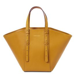 TL Bag Leather tote Mustard TL142123