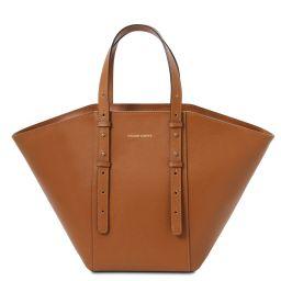 TL Bag Sac cabas en cuir Cognac TL142123