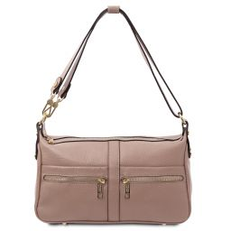 TL Bag Schultertasche aus Leder Nude TL142133