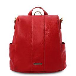 TL Bag Sac à dos en cuir souple Rouge Lipstick TL142138