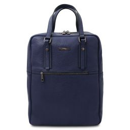 TL Bag 2 Compartments soft leather backpack Dark Blue TL142136