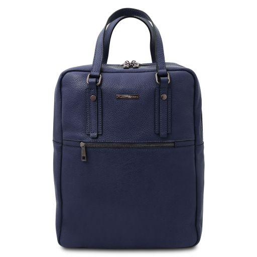 TL Bag Zaino in pelle morbida 2 scomparti Blu scuro TL142136