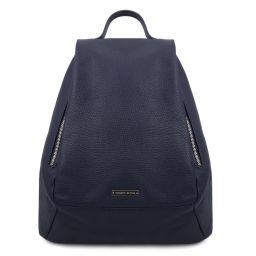 TL Bag Mochila para mujer en piel suave Azul oscuro TL142096