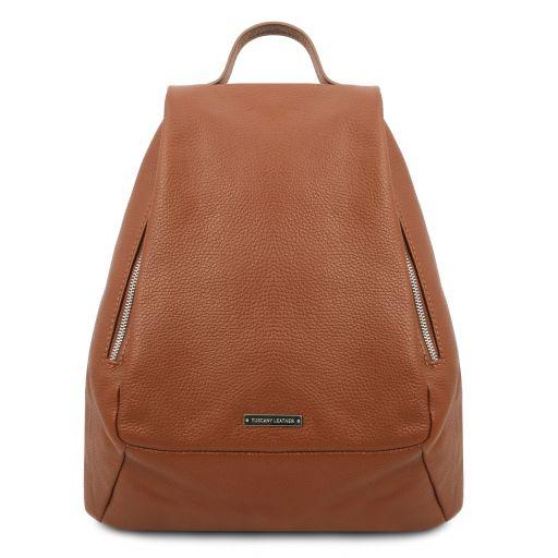 TL Bag Mochila para mujer en piel suave Cognac TL142096