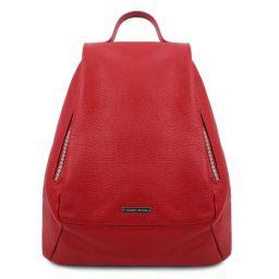 TL Bag Sac à dos pour femme en cuir souple Rouge Lipstick TL142096
