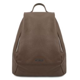 TL Bag Soft leather backpack for women Dark Taupe TL142096