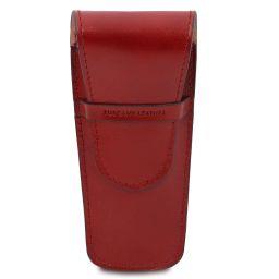 Exklusives Etui aus Leder für zwei Stifte/Uhren Rot TL142130