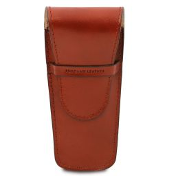 Elégant étui pour 2 stylos/porte montres en cuir Miel TL142130