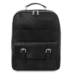 Nagoya Notebook Rucksack aus Leder Schwarz TL142137