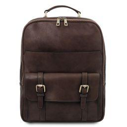 Nagoya Leather laptop backpack Dark Brown TL142137