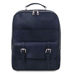 Nagoya Zaino porta notebook in pelle Blu scuro TL142137