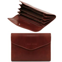 Эксклюзивный кожаный бумажник для женщин Коричневый TL140786