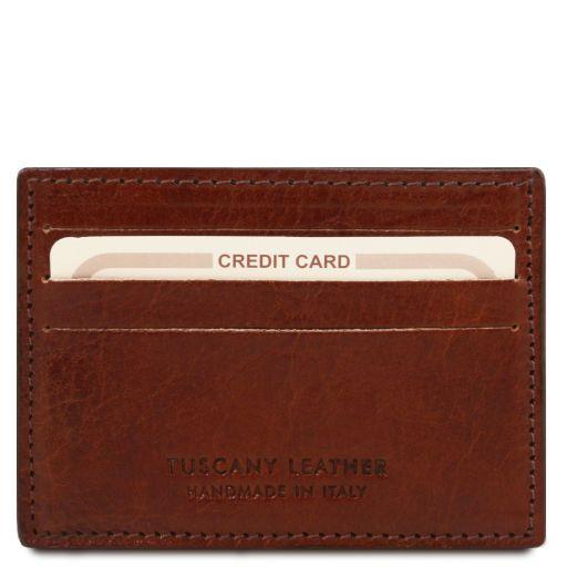 Esclusivo portacarte di credito in pelle Marrone TL141011