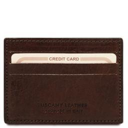 Esclusivo portacarte di credito in pelle Testa di Moro TL141011