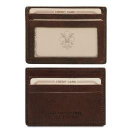 Esclusivo portacarte di credito in pelle con finestra Testa di Moro TL140805