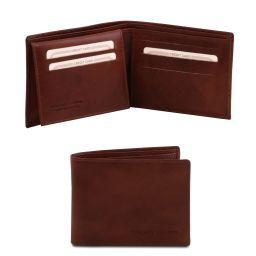 Exklusive Brieftasche für Herren aus Leder mit 3 Scheinfächern Braun TL140760