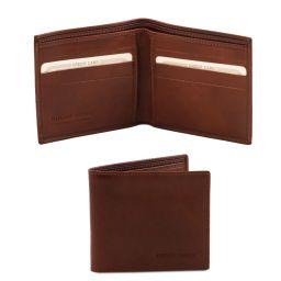 Elegante cartera de señor en piel Marrón TL140797